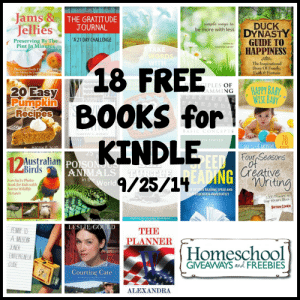 18 free books for Kindle 9.25.14