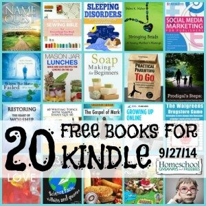 20 FREE Books for Kindle 9.27.14