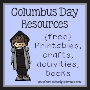 Columbus Day Resources - {free} printables, crafts, activities and books to use when celebrating this great explorer!