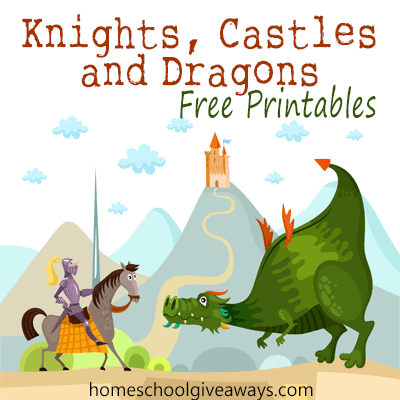 Knights Castles And Dragons Free Printables