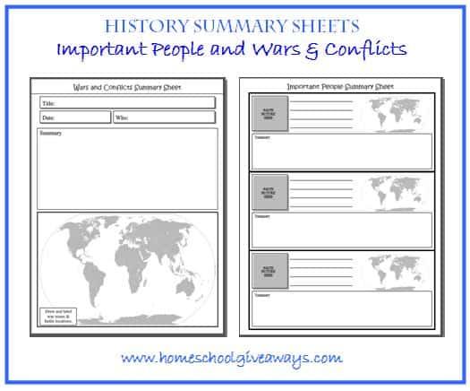 history sheets