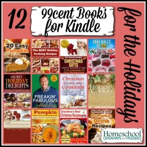 12 99cent Books for KINDLE for the HOLIDAYS
