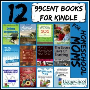 12 99cent Books for Kindle for Homeschool Moms