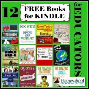12 FREE Books for KINDLE for EDUCATORS