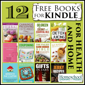 12 FREE Books for KINDLE for Heath and Home