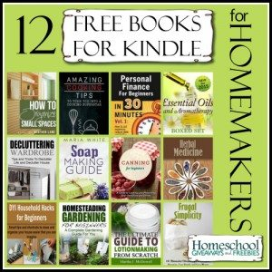 12 Free Books for Kindle for Homemakers