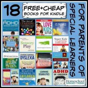 18 Free + Cheap Books for KINDLE for Parents of Special Learners