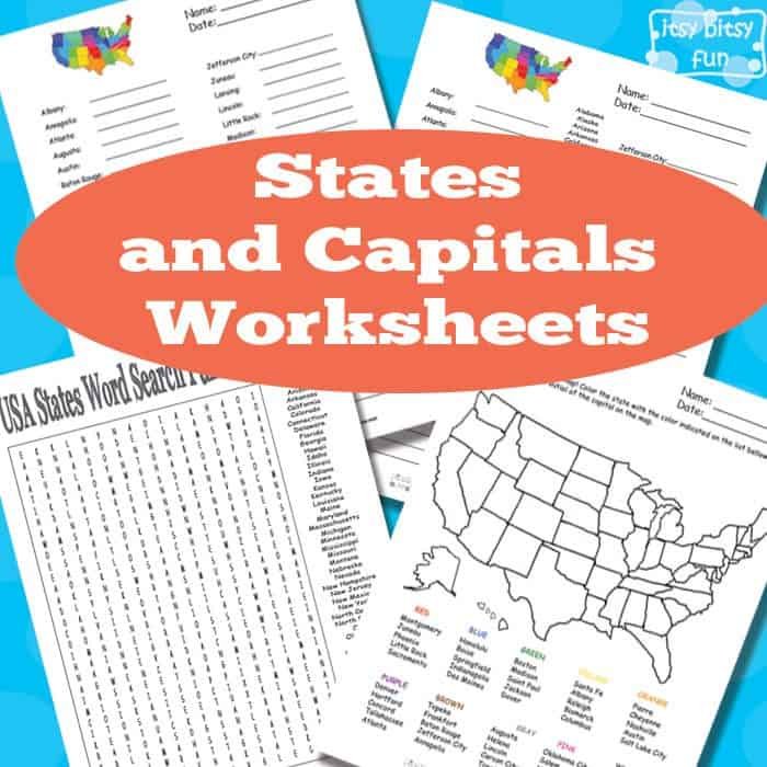 Free States And Capitals Worksheets Homeschool Giveaways