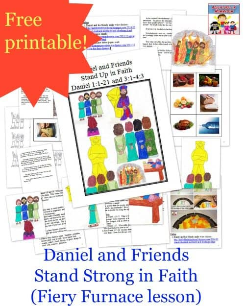 free daniel and friends bible lesson printable