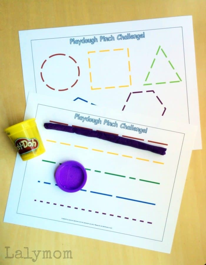 Free playdough mats for fine motor pinch strength practice for Fine motor activities for adults