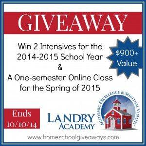 Landry Academy Giveaway 2
