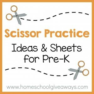 Scissor Practice Ideas and Sheets for PreK