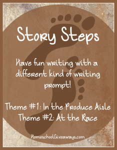 Story Steps Writing Prompts - In the Produce Aisle and At the Race