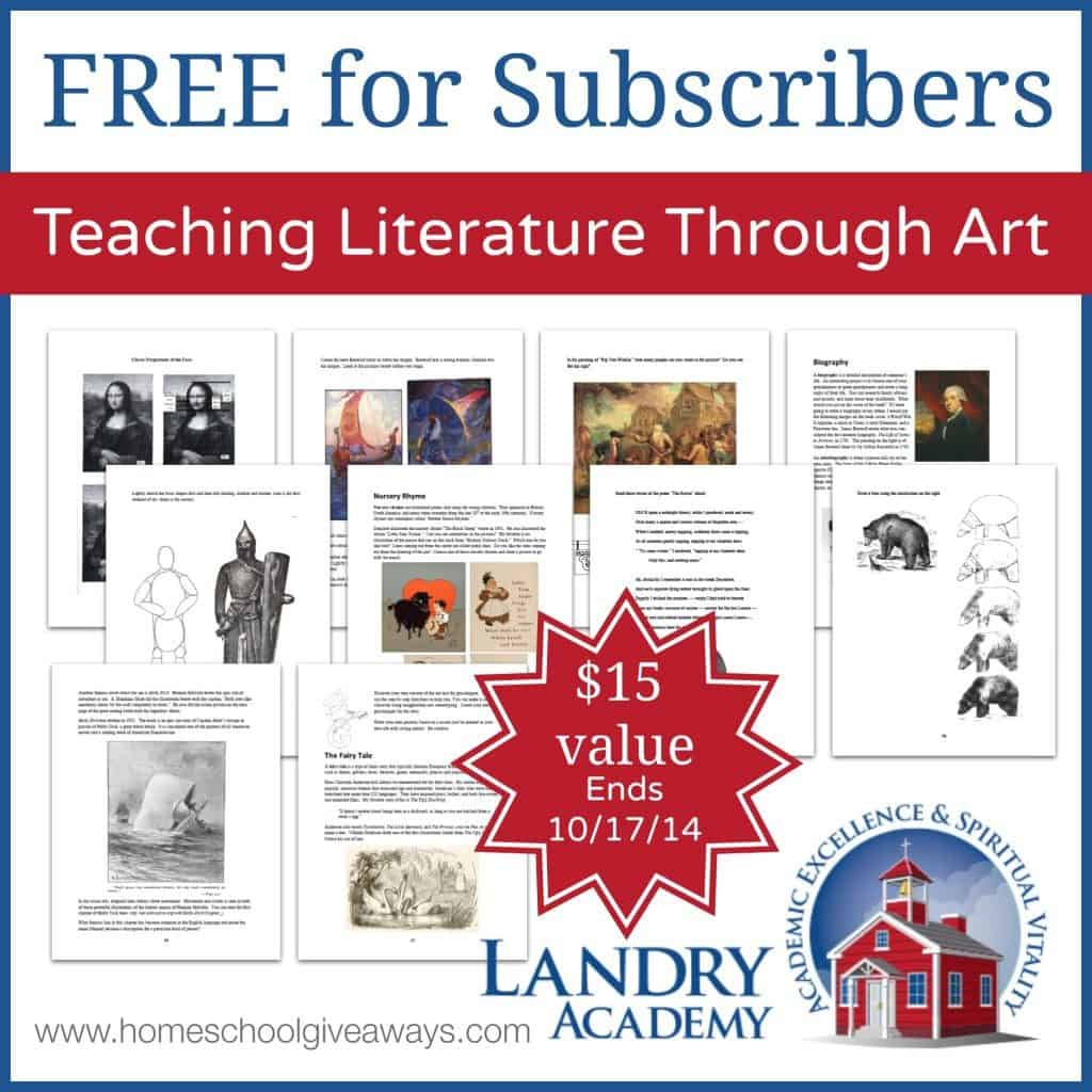 Teaching Literature Through Art Subscriber Freebie