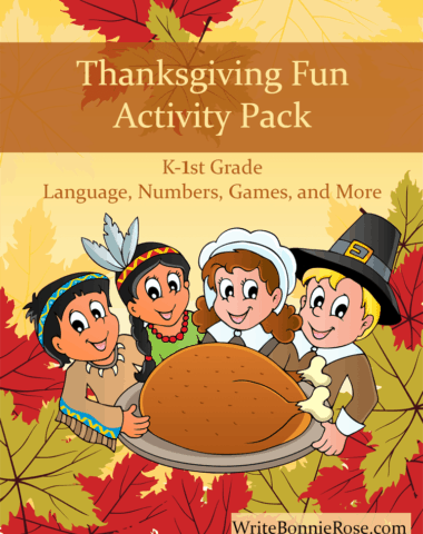 Thanksgiving Fun Activity Pack for K-1