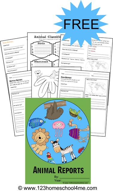free printable animal report forms
