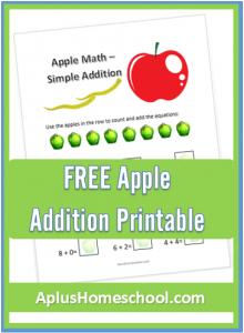 FREE Apple Addition Printable