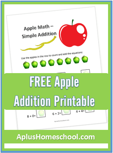 FREE Apple Addition Printable