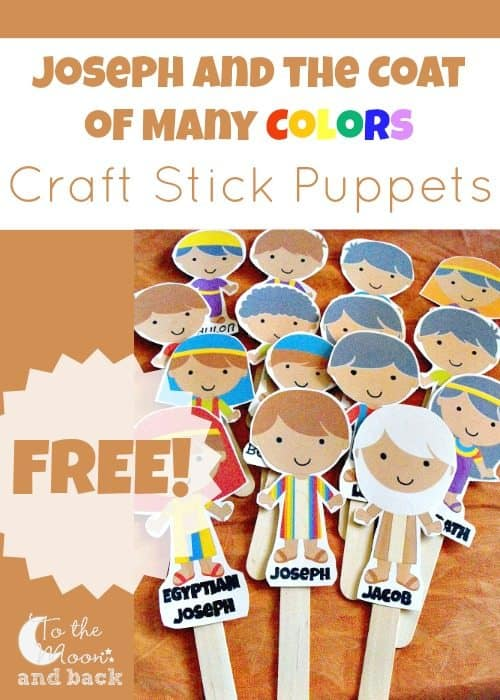 photograph about Joseph Coat of Many Colors Printable referred to as Joseph and the Coat of A lot of Colours Craft Adhere Puppets