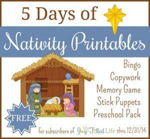 5 Days of Nativity Printables 500