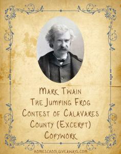 American Authors Mark Twain Copywork