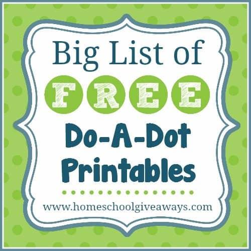 Big List of Free Do-A-Dot Printables!