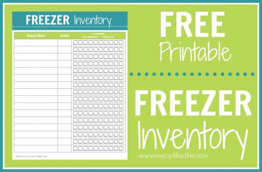picture about Freezer Inventory Printable known as Absolutely free Printable Freezer Stock Sheet - Homeschool Giveaways