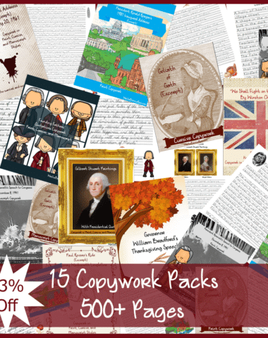 MEGA Copywork and Handwriting Practice Pack-Educents Copywork Sale