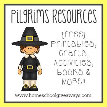 Get ready for Thanksgiving with these Pilgrim Resources - {free} printables, activities, books & MORE!!!