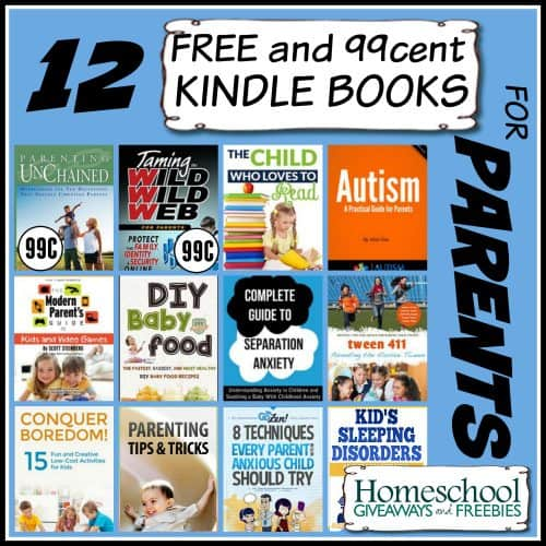 12 Free and 99 cent Kindle Books for Parents