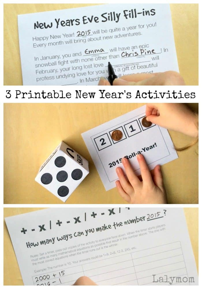 3 Printable New Year's Activities - Homeschool Giveaways