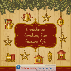 Christmas Spelling Fun K-2 Free Printable