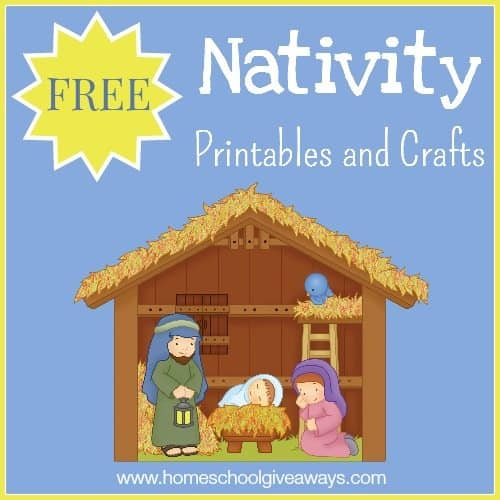 image relating to Free Printable Nativity Scene named Free of charge Nativity Printables and Crafts - Homeschool Giveaways