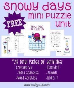 FREE Snowy Days Mini Puzzle Unit