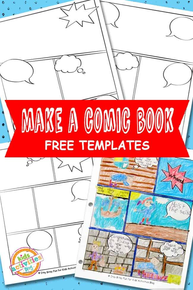 Free comic book template for Comic strip template maker