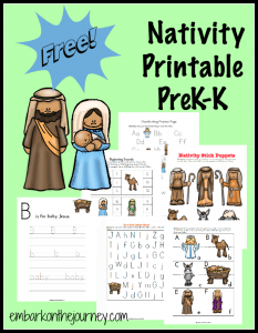Nativity-PreK-K-Printable