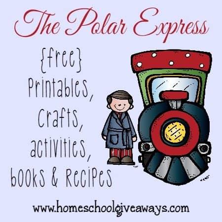Polar Express Resources free printables crafts recipes  MORE