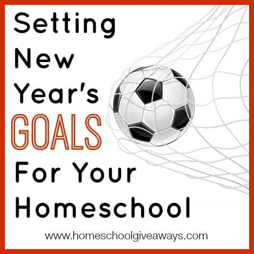Setting New Year's Goals for Your Homeschool