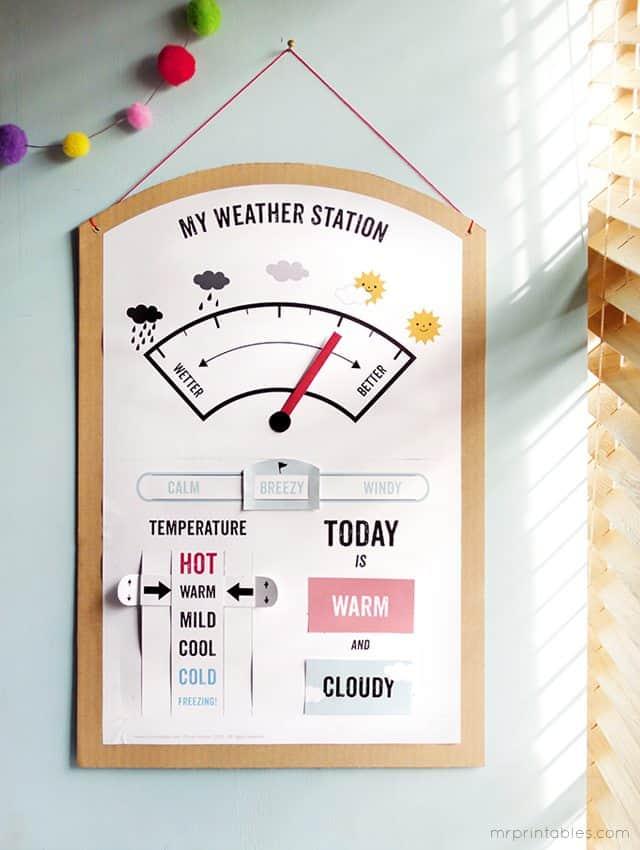 FREE My Weather Station Printable Set - Homeschool Giveaways