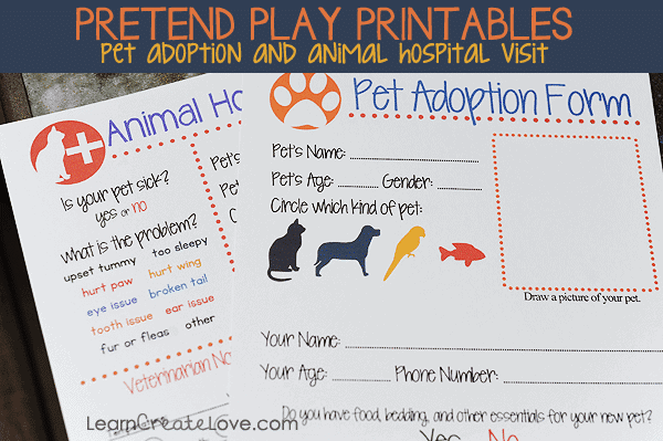 Lucrative image with pet adoption forms printable