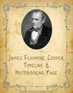 American Authors Timeline Worksheet and Notebooking Page-James Fenimore Cooper