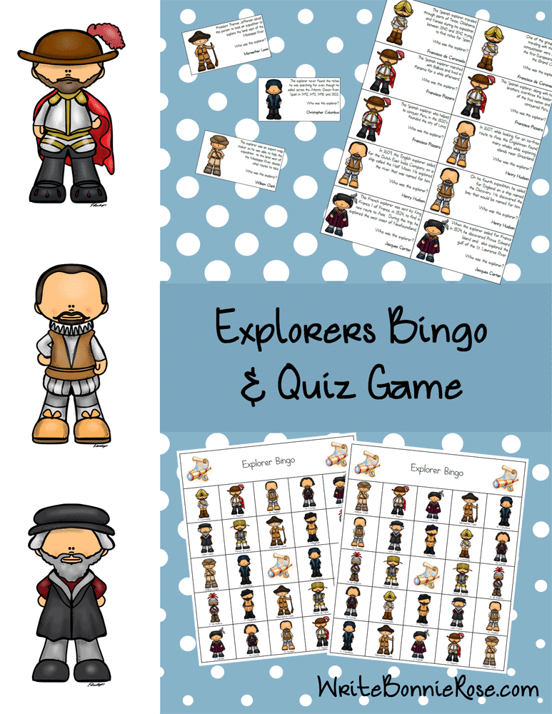 Explorers Bingo and Quiz Game