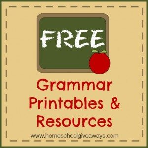 FREE Grammar Printables and Resources