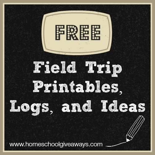 free field trip printables logs and ideas homeschool giveaways