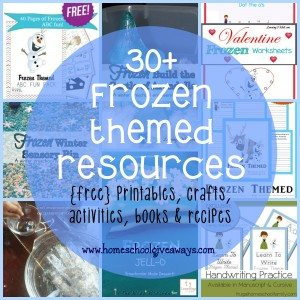 "Your kids will love having a day full of fun ""Frozen"" themed learning and activities!! Over 30 ideas and resources! :: www.homeschoolgiveaways.com"