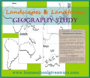Landscapes & Landforms Geography Study
