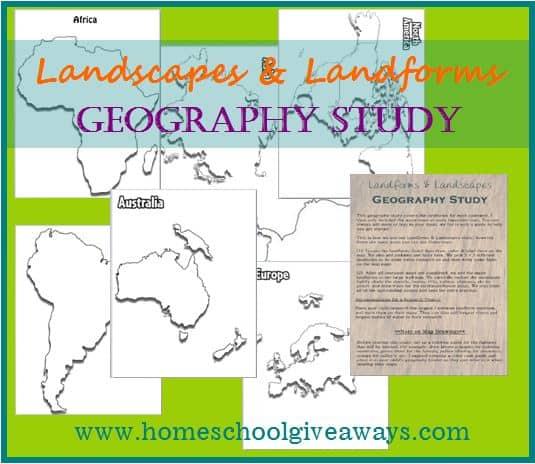 Landscapes & Landforms Geography Study