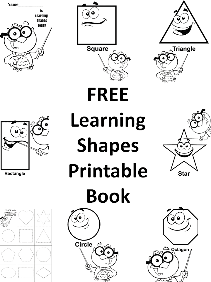 FREE Learning Shapes Printable Book - Homeschool Giveaways