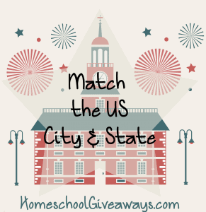 Match the US City and State Printable Pack
