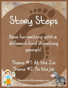 Writing Prompts Story Steps At the Zoo and On the Job